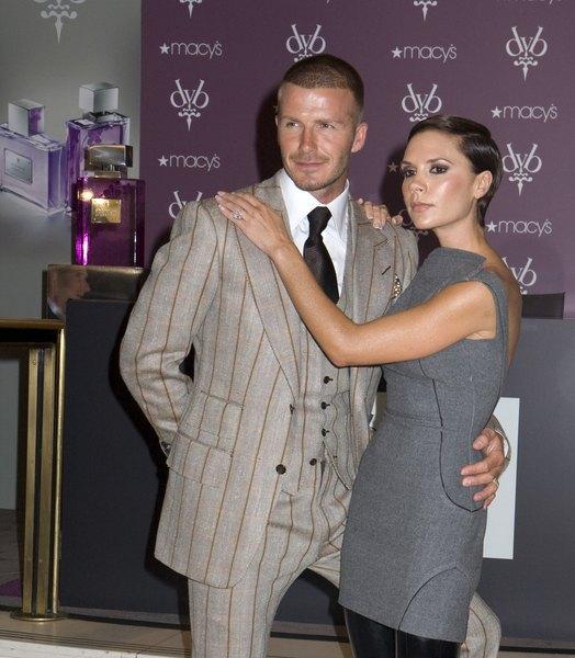 Victoria i David Beckhamowie ca�uj� si� na meczu [VIDEO]