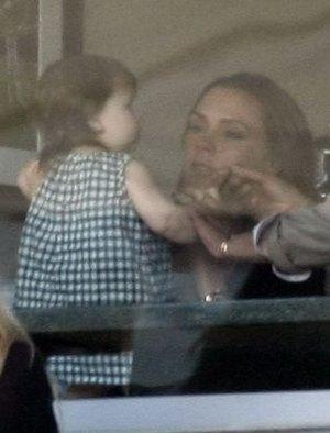 Victoria Beckham zabrała Harper na mecz (FOTO)