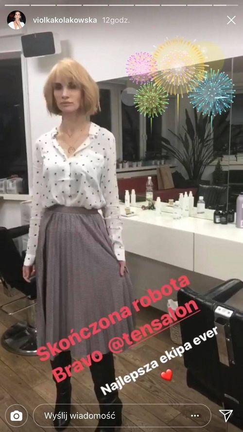 Viola Kołakowska została BLONDYNKĄ (Instagram)