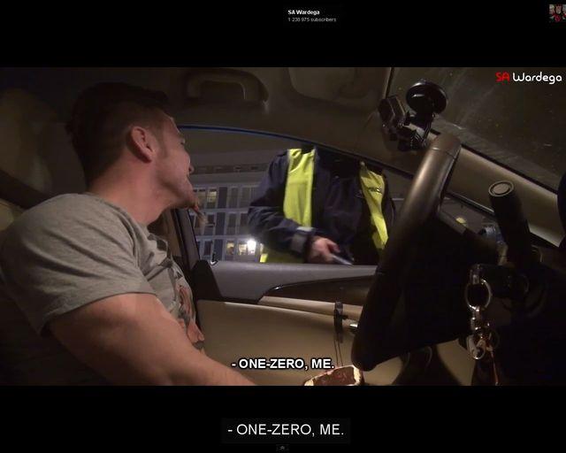 SA Wardęga z ciasteczkowym telefonem unika mandatu VIDEO