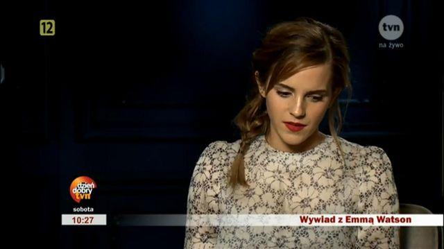 Emma Watson w wywiadzie dla DDTvn