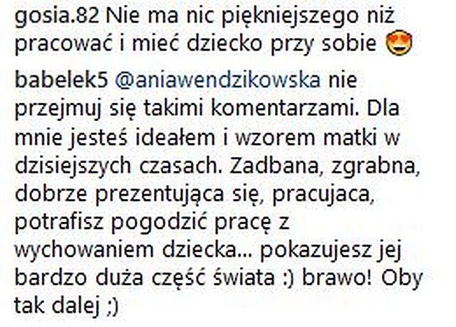 Internautka do Anny Wendzikowskiej: Tylko dziecka szkoda