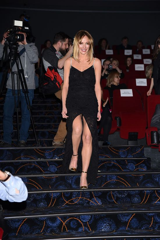 Impreza w kinie, a ona jak po Oscara (FOTO)