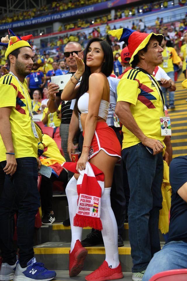 Karolina Emus i Marta Barczok na meczu Polska - Kolumbia (ZDJĘCIA)