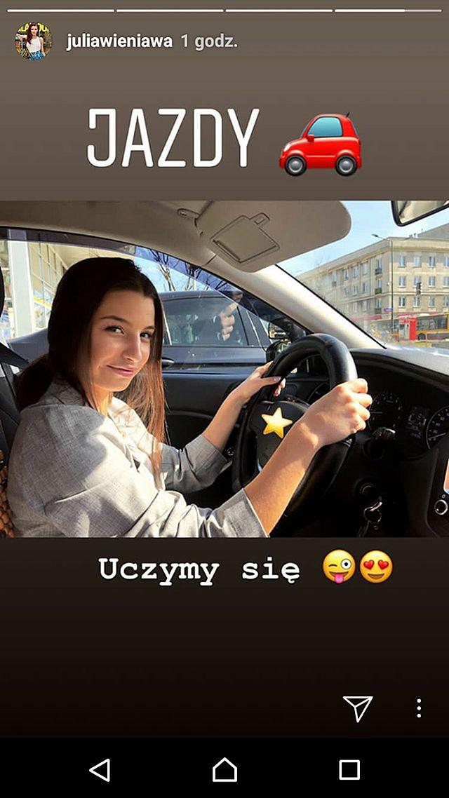 Uwaga na drogach! Julia Wieniawa robi prawko (Instagram)