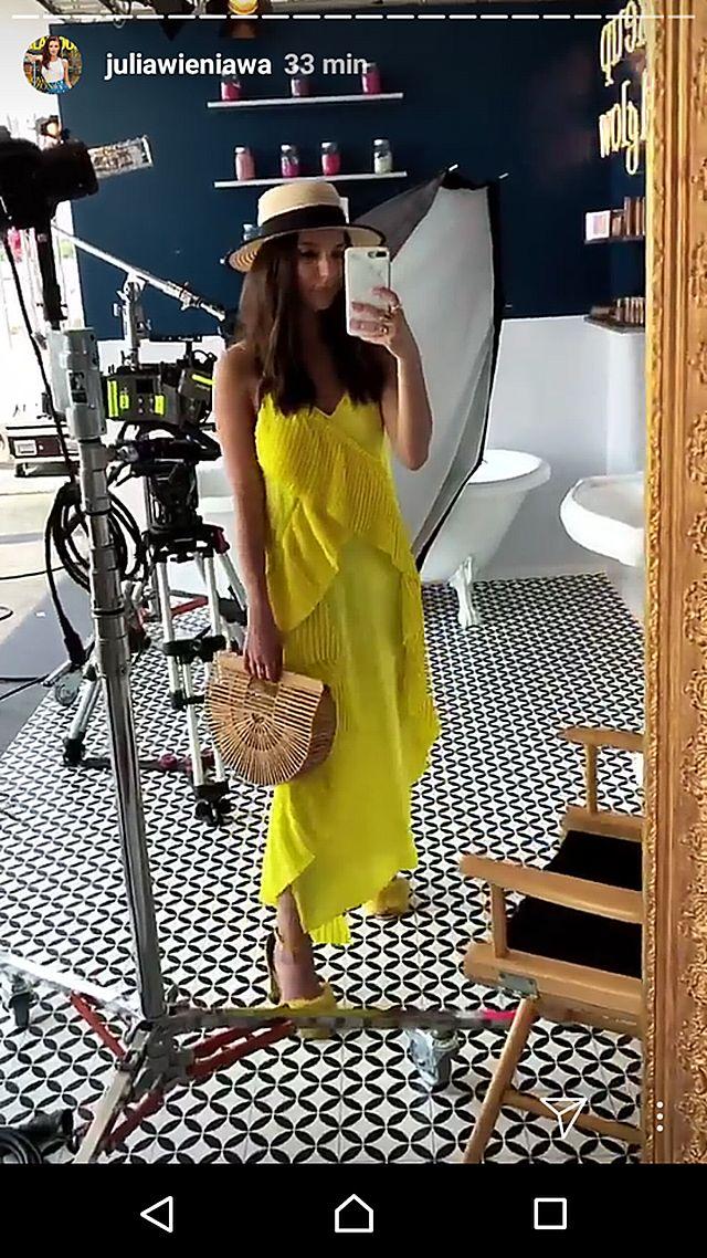 KANARKOWA stylizacji Julii Wieniawy w Cannes (Instagram)