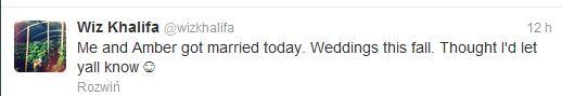 Wiz Khalifa i Amber Rose wzięli ślub! (FOTO)