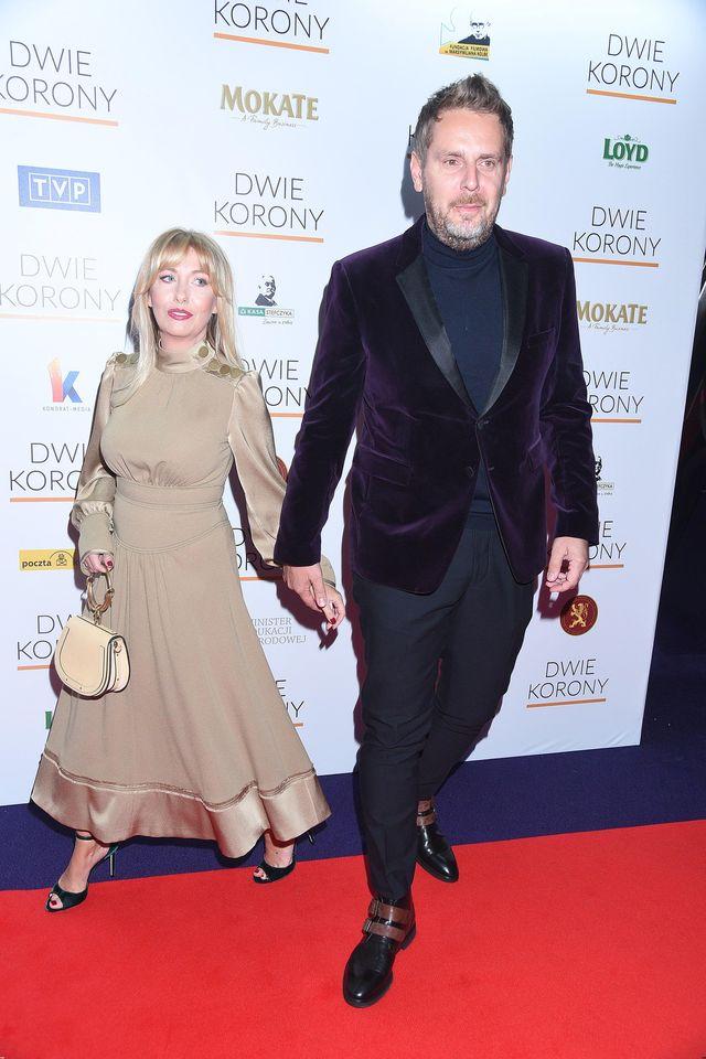 Wojciech Modest Amaro z żoną Agnieszką na premierze (ZDJĘCIA)