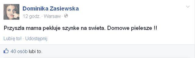 Dominika Zasiewska zamienia się w kurę domową? (FOTO)