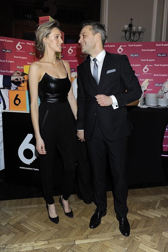 Elegancka i seksowna żona Żebrowskiego