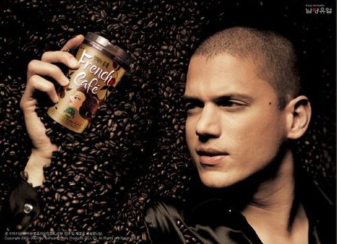 Wentworth Miller i French Cafe