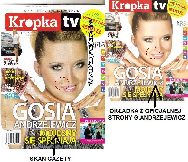Gosia Andrzejewicz i jej pieprzyk