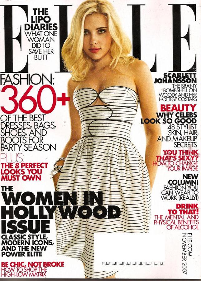 Scarlett Johansson w Elle