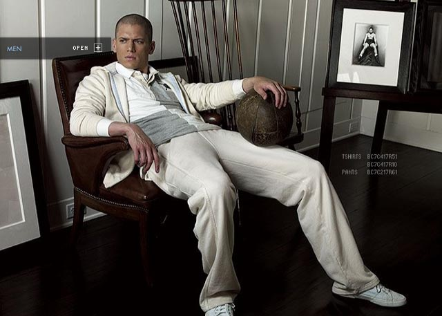 Wentworth Miller dla Bean Pole