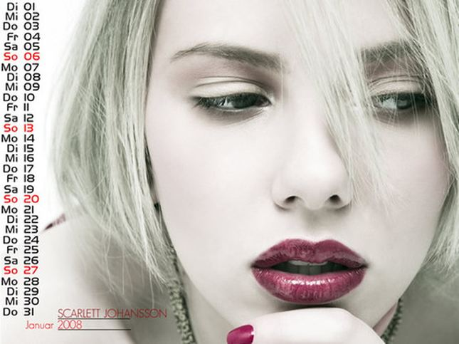 Scarlett Johansson - Kalendarz 2008