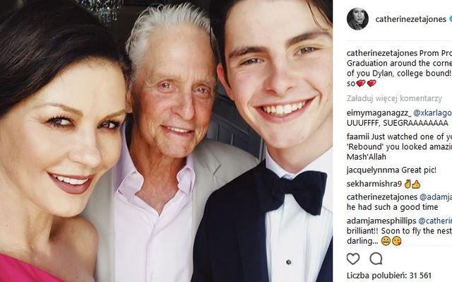 WOW! Syn Catheriny Zeta-Jones i Michaela Douglasa wyrasta na PRZYSTOJNIAKA