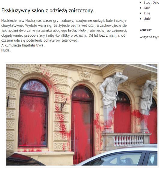 Salon Zienia padł ofiarą miejskiej partyzantki?