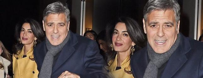 Piękna Amal Clooney z mężem na kolacji (FOTO)