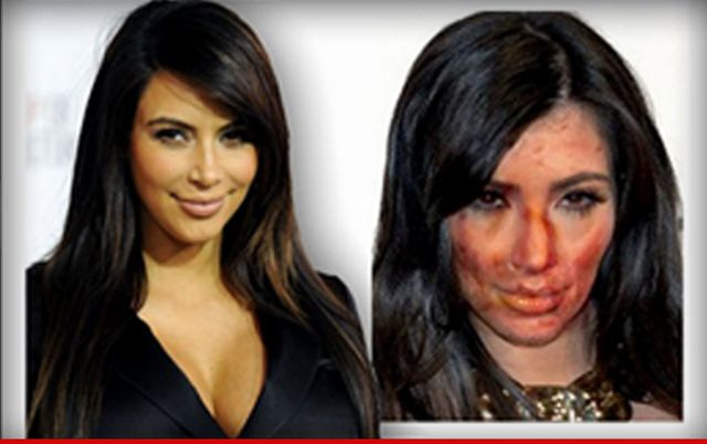 Koszmar! Co się stało z twarzą Kim Kardashian? (FOTO)