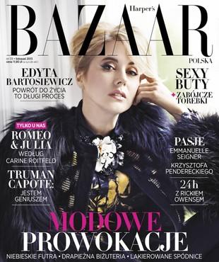 Edyta Bartosiewicz w listopadowym Harper's Bazaar (FOTO)