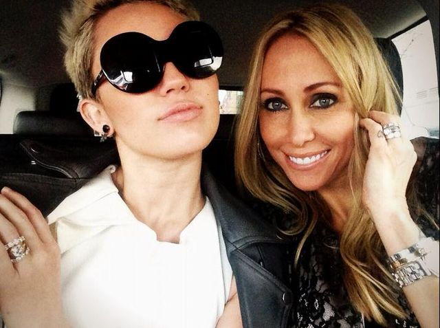 Miley Ray Cyrus z mamą