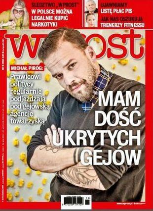 Szok! Piróg we Wprost o gejach w show-biznesie i polityce