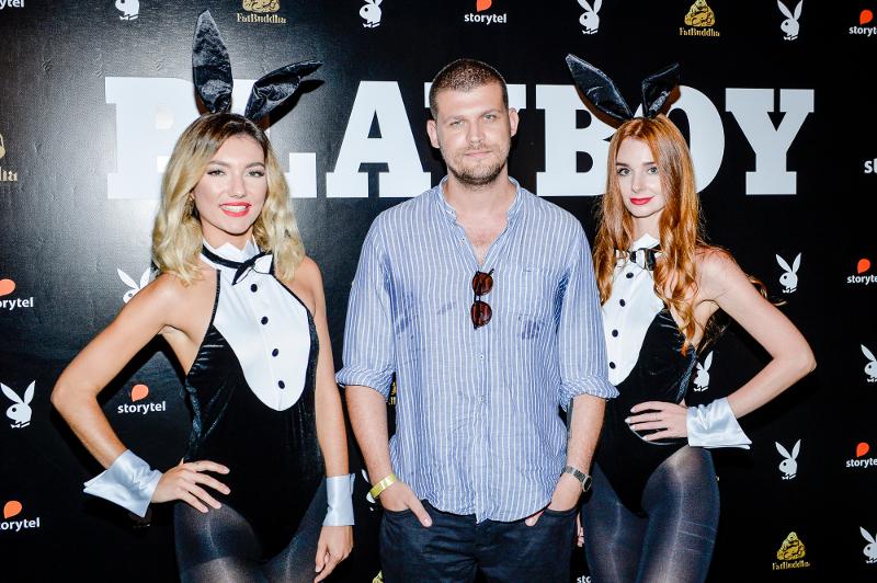 Warnke ze Stramowskim, Pazura i Miss Earth na wernisażu Playboya