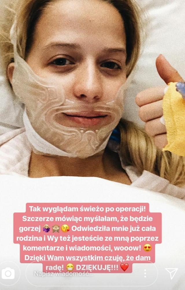 Jessica przeszła ciężką operacja. Od razu po narkozie zaczęła nagrywać na Insta!