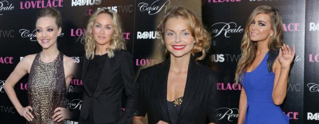 Gwiazdy w Los Angeles na premierze Lovelace