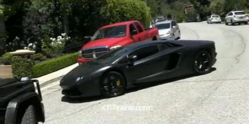 Lamborghini Kanyego Westa zniszczone (VIDEO)