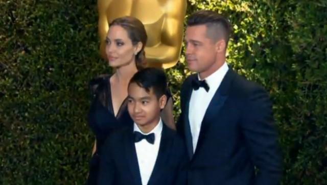 Angelina Jolie i Brad Pitt z synem Maddoxem