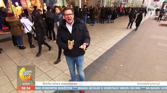 Filip Chajzer szuka chytrej baby z Radomia w sklepach H&M