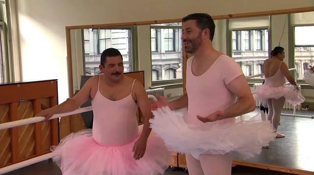 Misty Copeland uczy Jimmy'ego Kimmela baletu