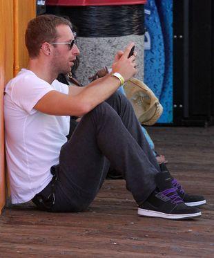 Chris Martin spędza czas z dziećmi (FOTO)