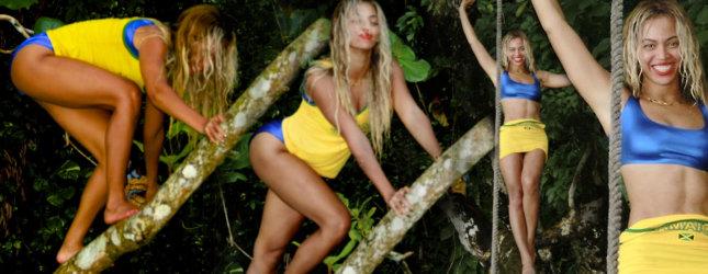 Beyonce wypina się na drzewie (FOTO)