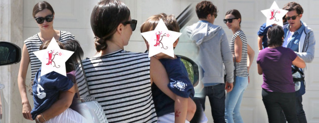 Bloom, Kerr, Flynn i niania – szczęśliwa rodzinka (FOTO)