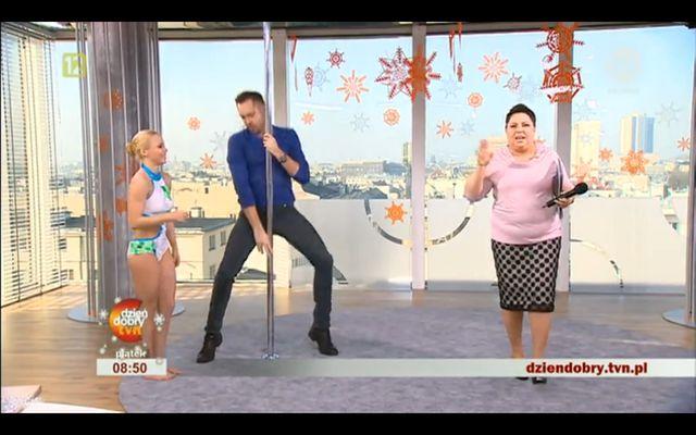 Hit! Marcin Prokop tańczy na rurze (VIDEO)