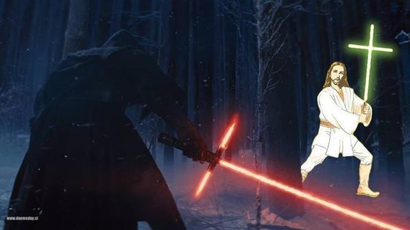 Internauci parodiuj� �wietlny miecz z Gwiezdnych wojen FOTO