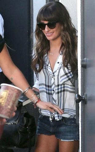 Lea Michele smutek po Corym topi w lekturach (FOTO)