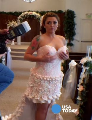 Nie uwierzysz, z czego zrobiono tę suknię ślubną