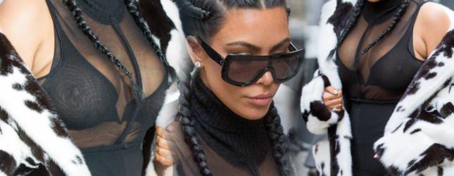 Kim Kardashian na ustawce pierwszy raz od czasu porodu