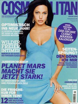 Seksowna Angelina Jolie w Cosmopolitan (FOTO)