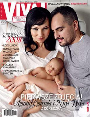 Agustin Egurrola z Niną Tyrką oraz małą Carmen