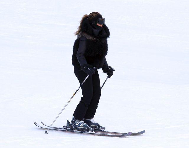 Mały narciarz Kim Kardashian
