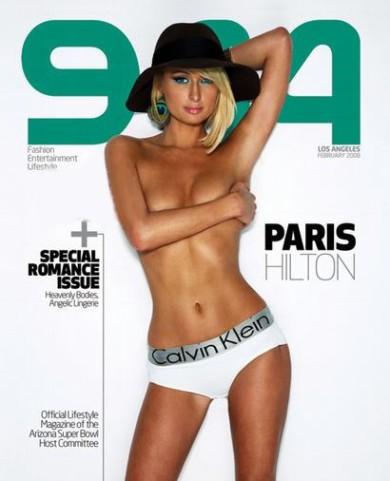 Naga Paris Hilton na okładce