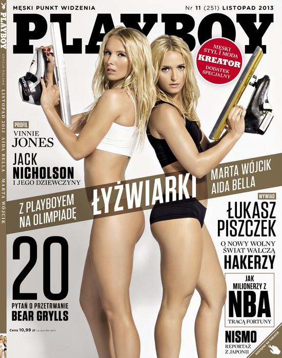Listopadowy Playboy z polskimi łyżwiarkami na okładce