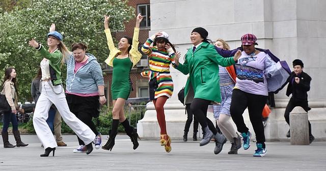 Ekipa Glee w Nowym Jorku (FOTO)