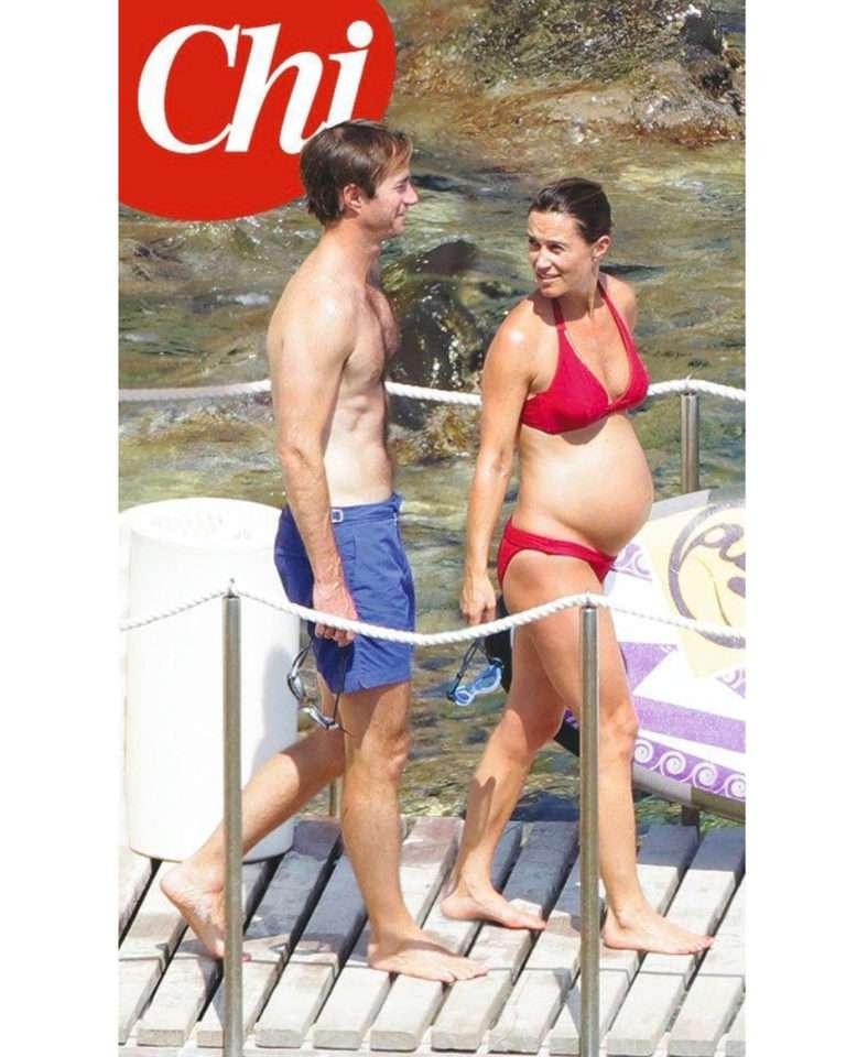 Ciężarna Pippa Middleton w czerwonym skąpym bikini na wakacjach z mężem!