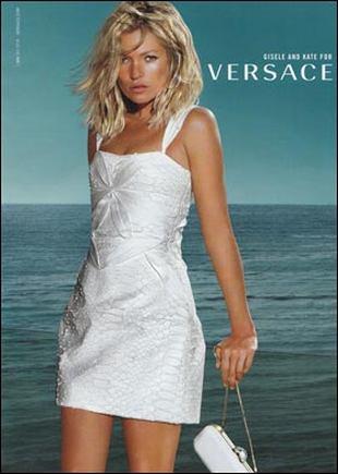 Seksowna Kate Moss w kampanii Versace (FOTO)