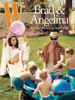 Brad Pitt i Angelina Jolie w magazynie W